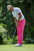 Rickie Fowler (USA) watches his putt on 7 during round 2 of the 2019 Charles Schwab Challenge, Colonial Country Club, Ft. Worth, Texas,  USA. 5/24/2019.<br /> Picture: Golffile   Ken Murray<br /> <br /> All photo usage must carry mandatory copyright credit (© Golffile   Ken Murray)