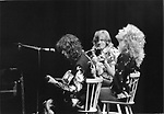 Led Zeppelin Jimmy Page John Paul Jones and Robert Plant 25th May 1975 at Earls Court