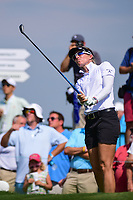 Kris Tamulis (USA) watches her tee shot on 16 during Thursday's first round of the 72nd U.S. Women's Open Championship, at Trump National Golf Club, Bedminster, New Jersey. 7/13/2017.<br /> Picture: Golffile | Ken Murray<br /> <br /> <br /> All photo usage must carry mandatory copyright credit (&copy; Golffile | Ken Murray)