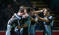 Celebrations as Michael Harriman of Wycombe Wanderers scores the equaliser to make it 1-1 during the Sky Bet League 2 match between Wycombe Wanderers and Notts County at Adams Park, High Wycombe, England on 15 December 2015. Photo by Andy Rowland.