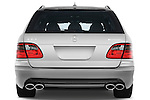 Straight rear view of a 2009 Mercedes E63 AMG Wagon