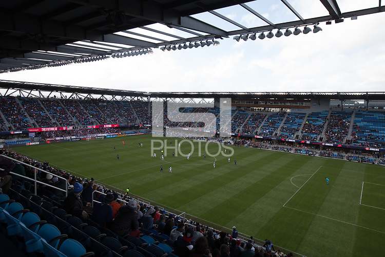 SAN JOSE, CA - Feb 2, 2019:  Fans watch the USA Men's National Team game against Costa Rica.