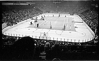 Pancho Gonzales vs Ken Rosewall, Madison Square Garden, 1957. Photo by John G. Zimmerman.
