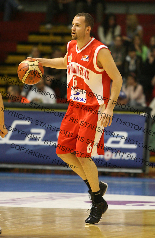 Sport Kosarka Basketball  Nasa Sinalko Liga Partizan Belgrade Serbia Vojvodina  Nemeth Istvan 7.4.2007. photo: Pedja Milosavljevic