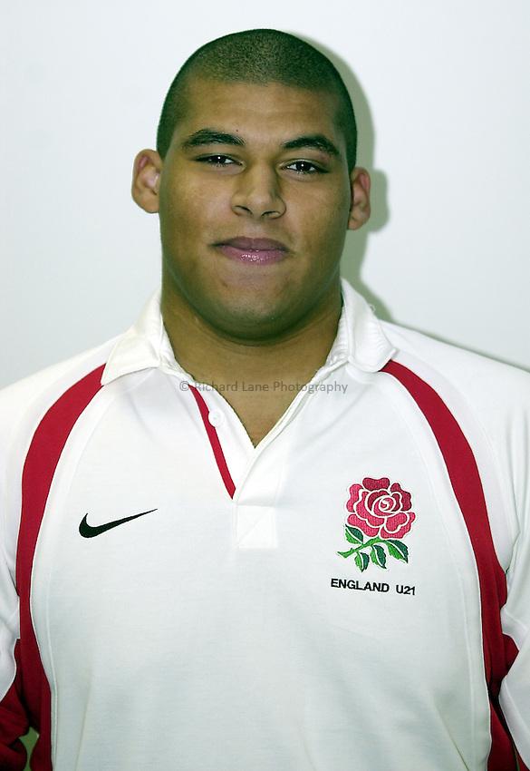England Under 21's..Photo. Richard Lane..14-2-2002.Alistair McKenzie.