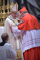 Cardinal Konrad Krajewski,, Pope Francis leads a consistory for the creation of five new cardinals  at St Peter's basilica in Vatican on  June 28, 2018
