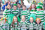 Front row Michael Poon, Jessica O'Connor, Redina O'Shea, Mellissa Buckley, Emma Griffin. Back row: Kate Doran, Alice Prendergast, Clodagh Dermody, Georgina Brosnan, Siobhain O'Byrne and Niamh O'Byrne who marched in the Killarney St Patricks Day parade on Monday   Copyright Kerry's Eye 2008