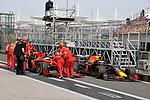 12.04.2019, Shanghai Audi International Circuit, Shanghai, 2019 FORMULA 1 HEINEKEN CHINESE GRAND PRIX<br /> im Bild<br />Sebastian Vettel (GER#5), Scuderia Ferrari ist an der FIA Waage vorbeigefahren und wird wieder zur&uuml;ck geschoben<br /> <br /><br /> <br /> Foto &copy; nordphoto / Bratic