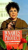 Actress Elizabeth Taylor reads the names of people lost to AIDS at the AIDS Memorial Quilt Display on the Mall in front of the U.S. Capitol on October 12, 1996..Credit: Ron Sachs / CNP