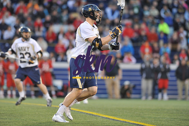 Despite holding the lead for most of the game, Navy lacrosse falls to Maryland 11-8 Friday evening in Annapolis.