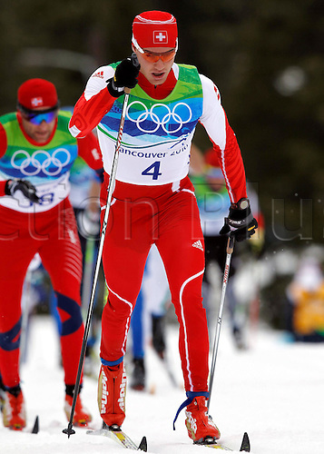2010 Vancouver Winter Olympic Games in Whistler Canada Ski Nordic Cross Country 50km Mass start the men. Picture shows Dario Cologna SUI. Photo: Imago/Actionplus. Editorial Use UK.