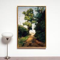 "Yaskulka: Through The Trees, Digital Print, Image Dims. 36"" x 24"", Framed Dims. 37.25"" x 25.75"""