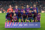 Players of FC Barcelona line up and pose for the photo prior to the La Liga 2018-19 match between FC Barcelona and RC Celta de Vigo at Camp Nou on 22 December 2018 in Barcelona, Spain. Photo by Vicens Gimenez / Power Sport Images