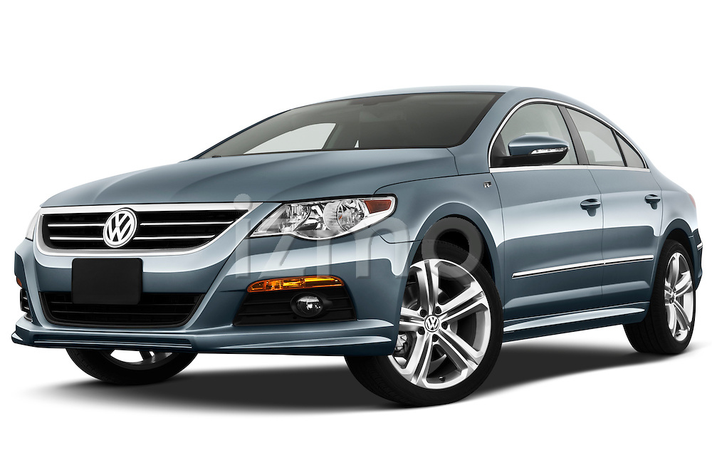 Low aggressive front three quarter view of a 2010 Volkswagen CC Sport R-Line Sedan.
