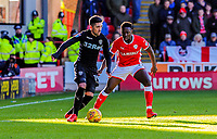 Leeds United's midfielder Pablo Hern?ndez (19) looks up for a pass during the Sky Bet Championship match between Barnsley and Leeds United at Oakwell, Barnsley, England on 25 November 2017. Photo by Stephen Buckley / PRiME Media Images.