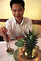 Eating Vietnamese Spring Rolls