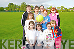 SOCCER: getting their team together for the ladies under 8s and 10 to play in the Cloghers/Manor and Boherbee community games at the sport field off the Dan Spring Road,Tralee on Friday night, Front l-r: Stephanie Keane,Marian,Geraldine and cassandra Knightly, back L-r: Lauren Pitman,. Eimear Murphy, lauren Quinn,Rebecca Dennehy Bla?thnaid Cotter and Aoife O'Mahony.