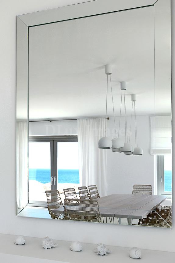reflection of minimal dining set