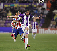 Diego Costa and Rueda during Real Valladolid V Atletico de Madrid match of La Liga 2012/13. 17/02/2012. Victor Blanco/Alterphotos /NortePhoto