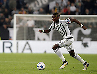 Calcio, Champions League: Gruppo D - Juventus vs Siviglia. Torino, Juventus Stadium, 30 settembre 2015. <br /> Juventus&rsquo; Paul Pogba in action during the Group D Champions League football match between Juventus and Sevilla at Turin's Juventus Stadium, 30 September 2015. <br /> UPDATE IMAGES PRESS/Isabella Bonotto