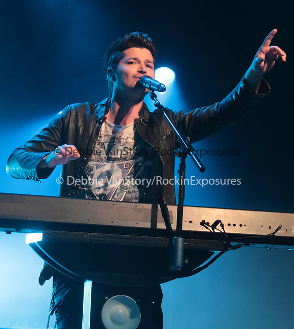 Danny O'Donoghue singer for the Irish rock back 'The Script' performs at the Mann Music Center in Philadelphia, Pennsylvania June 3, 2011. .Copyright EML/Rockinexposures.com.
