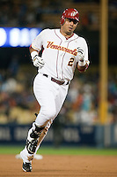 21 March 2009:  #2 Carlos Guillen of Venezuela runs the bases after hitting a home run in the seventh inning during the 2009 World Baseball Classic semifinal game at Dodger Stadium in Los Angeles, California, USA. Korea wins 10-2 over Venezuela.