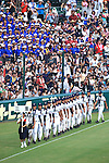 Mie team group,<br /> AUGUST 25, 2014 - Baseball :<br /> Runenrs-up Mie players parade the field during the closing ceremony after the 96th National High School Baseball Championship Tournament final game between Mie 3-4 Osaka Toin at Koshien Stadium in Hyogo, Japan. (Photo by Katsuro Okazawa/AFLO)