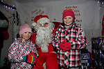 Coilen and Chloe Dunne in dunleer for the arrival of Santa<br /> Picture: Fran Caffrey www.newsfile.ie