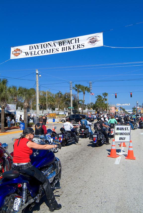 Biker Week Event at the Famous Spring Break for Bike week in Daytona Beach Florida on Main Stree
