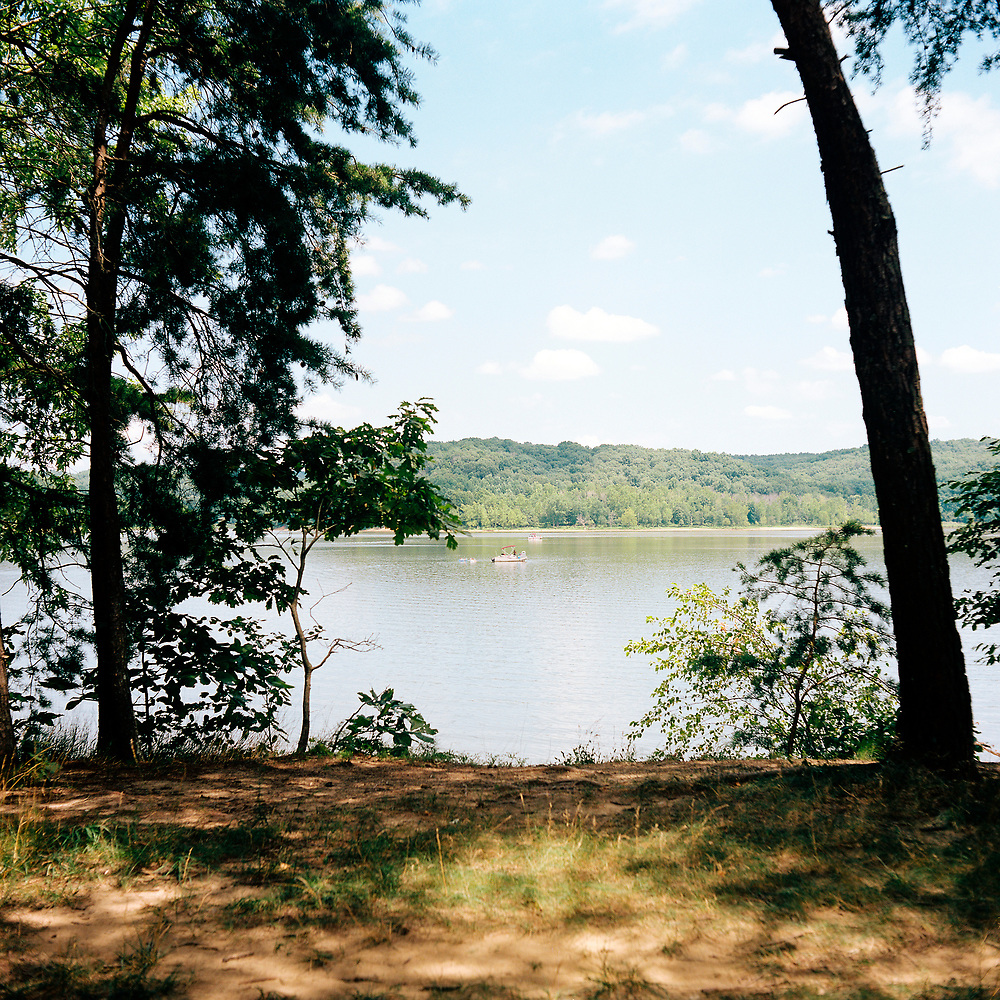 Lake Monroe is pictured from the Sycamore Land Trust Amy Weingartner Branigin Peninsula Preserve near Bloomington, Indiana on Sunday, July 8, 2018. (Photo by James Brosher)