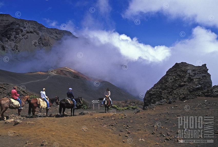 Horseback riding through Haleakala Crater, Upcountry Maui