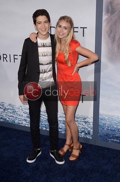 "Joshua Rush, Emily Skinner<br /> at the ""Adrift"" World Premiere, Regal Cinemas L.A. Live, Los Angeles, CA 05-23-18<br /> David Edwards/DailyCeleb.com 818-249-4998"