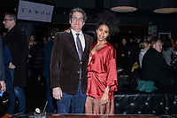 NEW YORK CITY - MARCH 15: Paul Simms and Zazie Beetz attend FX Networks 2018 Annual All-Star Bowling Party at Lucky Strike Manhattan on March 15, 2018 in New York City. (Photo by Anthony Behar/FX/PictureGroup)