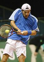 21-2-06, Netherlands, tennis, Rotterdam, ABNAMROWTT,  . Meltzer in action against Olivier Rochus