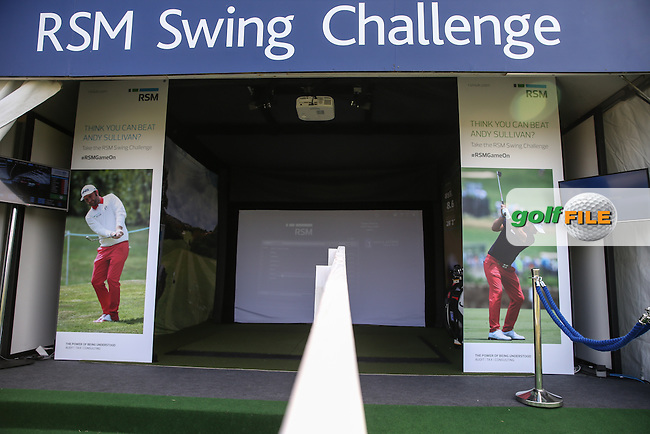 View of the RSM Swing Challenge stand on the People's Village during Round Two of the 2016 Aberdeen Asset Management Scottish Open, played at Castle Stuart Golf Club, Inverness, Scotland. 08/07/2016. Picture: David Lloyd | Golffile.<br /> <br /> All photos usage must carry mandatory copyright credit (&copy; Golffile | David Lloyd)