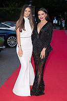 Kendall Rae Knight and Rosie Williams at the Grand Prix Ball at the Hurlingham Club, London on July 4th 2018<br /> CAP/ROS<br /> &copy;ROS/Capital Pictures