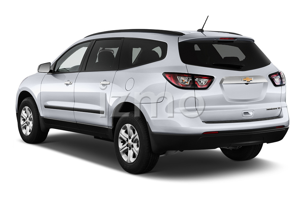 Car pictures of rear three quarter view of 2017 Chevrolet Traverse LS-FWD 5 Door SUV Angular Rear