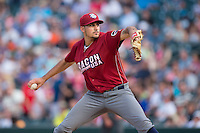 Lehigh Valley Iron Pigs starting pitcher Zach Eflin (16) in action against the Charlotte Knights at BB&T BallPark on June 3, 2016 in Charlotte, North Carolina.  The Iron Pigs defeated the Knights 6-4.  (Brian Westerholt/Four Seam Images)