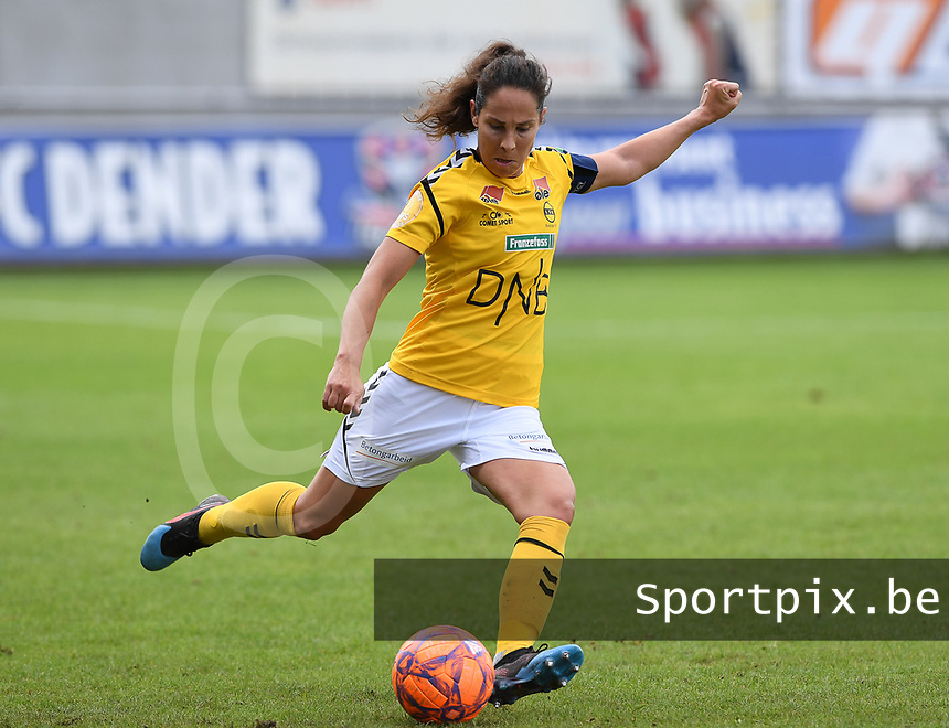 20190813 - DENDERLEEUW, BELGIUM : LSK's Ingrid Moe Wold pictured during the female soccer game between the Greek PAOK Thessaloniki Ladies FC and the Norwegian LSK Kvinner Fotballklubb Ladies , the third and final game for both teams in the Uefa Womens Champions League Qualifying round in group 8 , Tuesday 13 th August 2019 at the Van Roy Stadium in Denderleeuw  , Belgium  .  PHOTO SPORTPIX.BE for NTB | DAVID CATRY