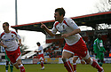 Scott Laird of Stevenage Borough celebrates after scoring from the penalty spot for their second goal during the Blue Square Premier match between Stevenage Borough and Forest Green Rovers at the Lamex Stadium, Broadhall Way, Stevenage on Saturday 10th April, 2010 ..© Kevin Coleman 2010