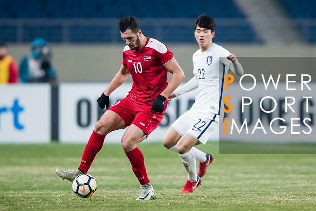 Syria vs South Korea during the AFC U23 Championship China 2018 Group D match at Kunshan Sports Center on 14 January 2018, in Kunshan , China. Photo by Yu Chun Christopher Wong / Power Sport Images