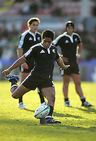 New Zealand U19 outhalf Trent Renata converts against Wales at Ravenhill. Result New Zealand 37 Wales 14.