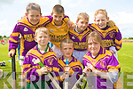 GOOD FUN: The Duagh U10's hurling team having good fun at the hurling blitz at Abbeydorney on Saturday front l-r: Lorcan Moloney, Pa Moloney and Rowanna McNulty. Back l-r: Jayden Prenderville, Michael Costello, Muiri?och McNulty and Eoin Buckley.