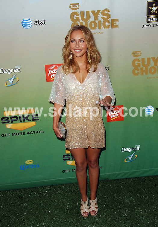 **ALL ROUND PICTURES FROM SOLARPIX.COM**.**SYNDICATION RIGHTS FOR UK, AUSTRALIA, DENMARK, PORTUGAL, S. AFRICA, SPAIN & DUBAI (U.A.E) ONLY**.arrivals for the 2009 SpikeTV's Guy's Choice Awards. Held at Sony Studios, Culver City, CA. USA. 30 May 2009..This pic: Hayden Panetierre..JOB REF: 9131 PHZ (Ortega)   DATE: 30_05_2009.**MUST CREDIT SOLARPIX.COM OR DOUBLE FEE WILL BE CHARGED**.**ONLINE USAGE FEE GBP 50.00 PER PICTURE - NOTIFICATION OF USAGE TO PHOTO @ SOLARPIX.COM**.**CALL SOLARPIX : +34 952 811 768 or LOW RATE FROM UK 0844 617 7637**