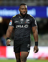DURBAN, SOUTH AFRICA - MAY 05: Tendai Beast Mtawarira of the Cell C Sharks during the Super Rugby match between Cell C Sharks and Highlanders at Jonsson Kings Park Stadium in Durban, South Africa on Saturday, 5 May 2018. Photo: Steve Haag / stevehaagsports.com