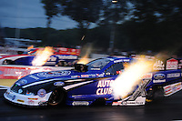Jun. 1, 2012; Englishtown, NJ, USA: NHRA funny car driver Robert Hight during qualifying for the Supernationals at Raceway Park. Mandatory Credit: Mark J. Rebilas-