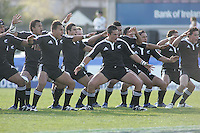 The New Zealand U19 perform the Haka before they face Wales at Ravenhill. Result New Zealand 37 Wales 14.