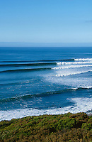 Lineup of Bells Beach, Victoria, Australia during Rip Curl Pro..photo:  joliphotos.com
