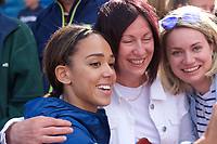 Katarina Johnson-Thompson (Great Britain) has a selfie after competing in the Women's long jump during the IAAF Diamond League Athletics Müller Grand Prix Birmingham at Alexander Stadium, Walsall Road, Birmingham on 18 August 2019. Photo by Alan  Stanford.