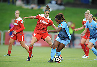 Boyds, MD - Saturday May 06, 2017: Havana Solaun, Maya Hayes during a regular season National Women's Soccer League (NWSL) match between the Washington Spirit and Sky Blue FC at Maureen Hendricks Field, Maryland SoccerPlex.